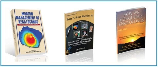 Dr. Brian S. Boxer Wachler's three books about Keratoconus